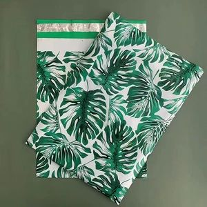 100 10x13 Poly Mailers Palm Leaves